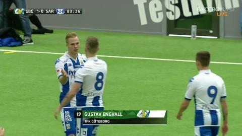 Här gör Gustav Engvall Blåvitts första mål 2016