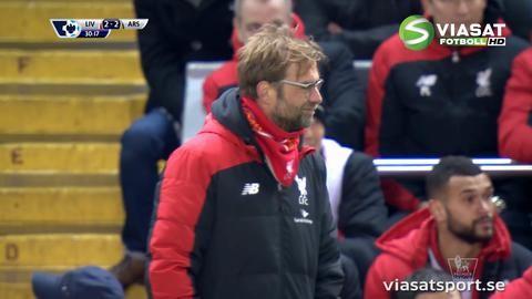 Höjdpunkt: Wenger tvingas lugna ner Klopp