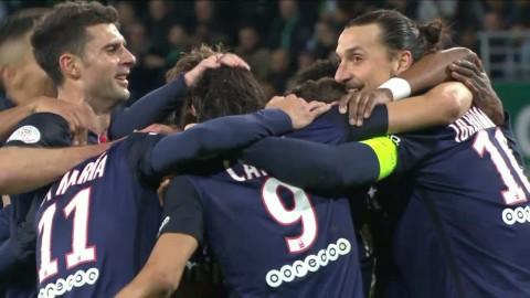 Höjdpunkter: Zlatans två mål ger PSG segern mot St Etienne