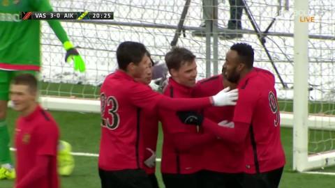 """Joel Johanssons andra mål  i matchen: """"Det är utskåpning"""""""