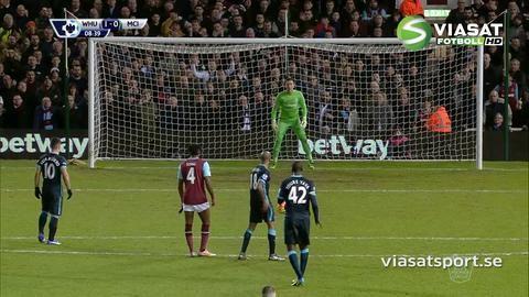 Mål: Agüero trycker in kvittering på straff (1-1)