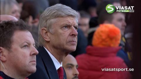 Mål: Arsenal tar ledningen - läckert nätat av Chambers (1-0)