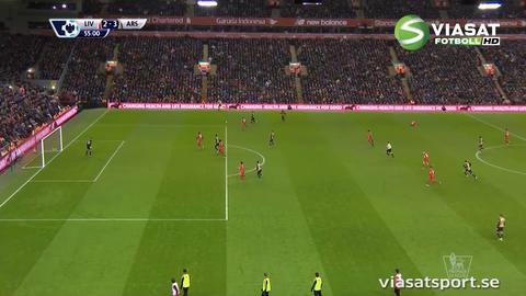 Mål: Arsenal vänder matchen genom Giroud (2-3)