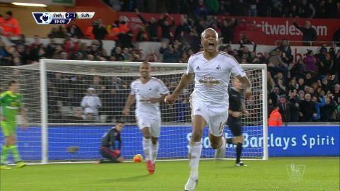 Mål: Ayew snurrar upp försvaret och trycker in ledningen (2-1)