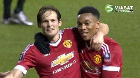 Mål: Blind ger United ledningen igen efter jättelöpning (1-2)