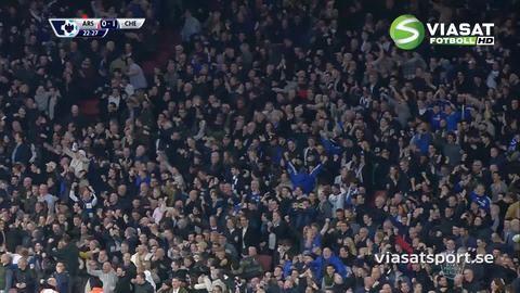 Mål: Costa öppnar målskyttet på Emirates Stadium (0-1)