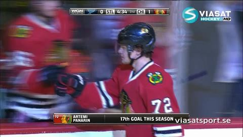 """Mål: Kane och Panarins samarbete hyllas: """"Sedin-likt"""""""