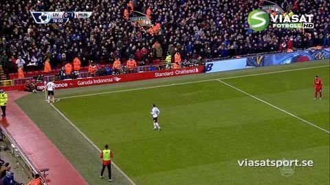 Mål: Rooney öppnar målskyttet på Anfield (0-1)