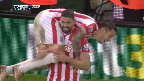 Mål: Stoke tar ledningen - Walters nätar (1-0)