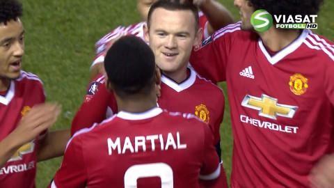 Mål: Vackert ledningsmål av Rooney (0-1)