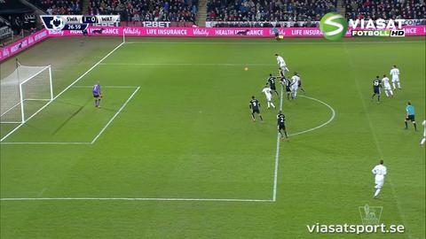 Mål: Williams ger Swansea ledningen (1-0)