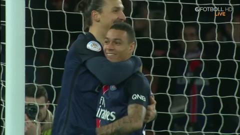 PSG leker in 3-0 - Zlatan står och kickar bollen