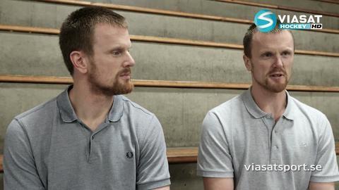 Reportage: Viasat Hockey möter bröderna Sedin
