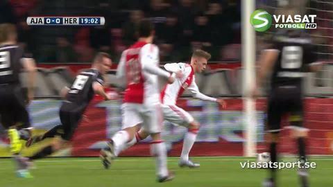 Sammandrag: Favoriterna Ajax lyckades inte få hål på Heracles