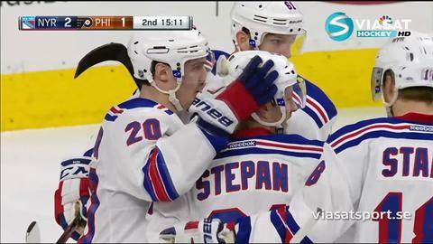 Sammandrag: Philadelphia Flyers - NY Rangers 2-3 (OT)