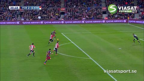 Sammandrag: Suarez hattrick-hjälte i Barcas utklassning