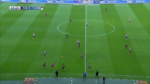 Sammandrag: Två röda sänkte frenetiskt kämpande Atletico