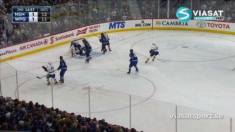 Sammandrag: Winnipeg - Nashville 1-4