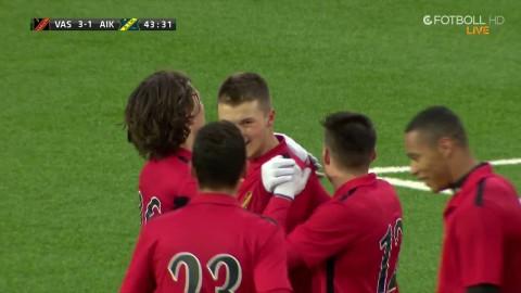Svagt försvarsspel av AIK - Vasalund svarar upp direkt och gör 4-1