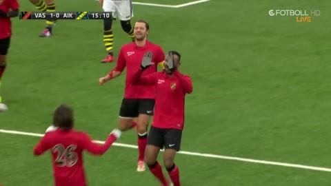 Vasalund utökar till 2-0 efter fin frispark utifrån