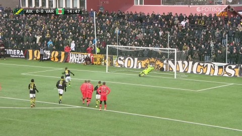 AIK tilldelas straff - Affane bränner den