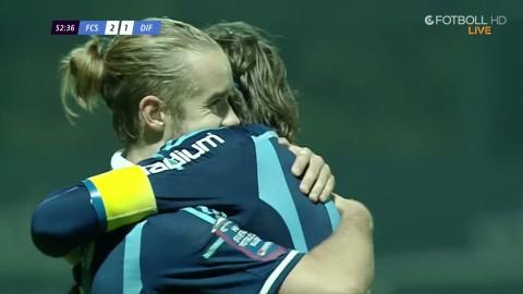 Daniel Berntsen gör 2-2 efter en vacker träff