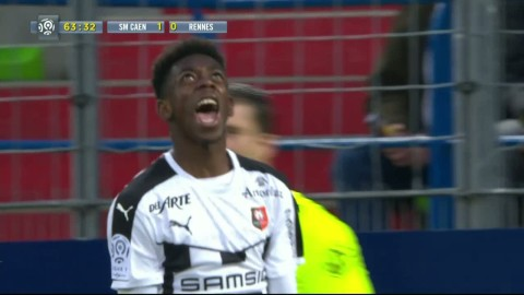 Dribblingsnummer av Dembele när Rennes förlorade