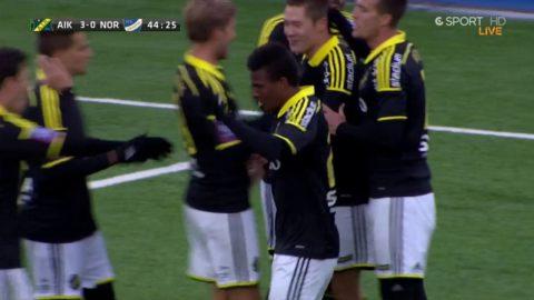Eliasson gör 3-0 för AIK efter läckert anfall