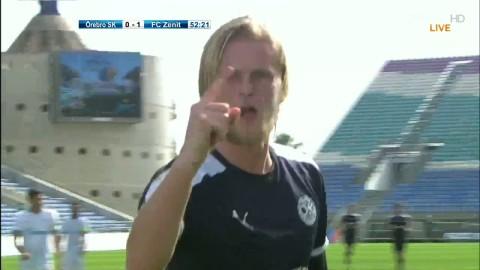 Glödhet Kalle Holmberg kvitterar till 1-1 mot Zenit