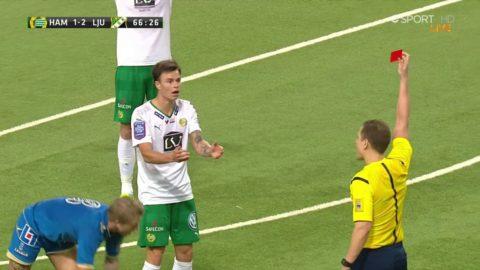 Hallberg utvisad för Hammarby i cupen