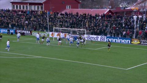 Här gör Avdic sitt första mål för AIK