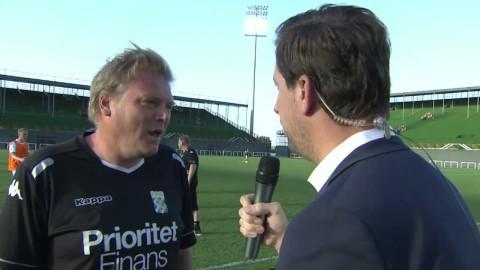 Intervju med Jörgen Lennartsson efter IFK Göteborgs seger