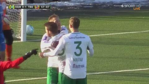 Israelsson skjuter in 1-1 efter Hammarbys stora press