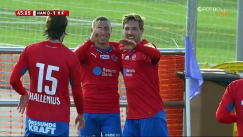 Jordan Larsson rullar fräckt in 1-0 för Helsingborg