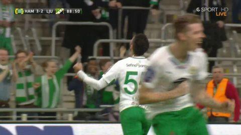 Khalili punkterar matchen till 4-2 för Hammarby