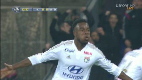 Lyon chockar PSG - Cornet sätter 1-0