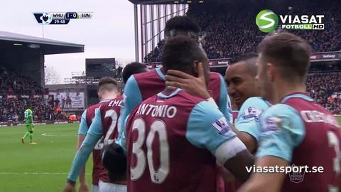 Mål: Antonio öppnar målskyttet mot Sunderland (1-0)