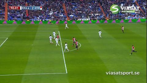 Mål: Athletic Bilbao får in ett reduceringsmål i slutminuten (4-2)