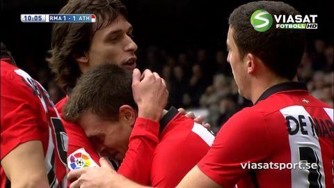 Mål: Athletic Bilbao kvitterar efter Reals tabbe (1-1)