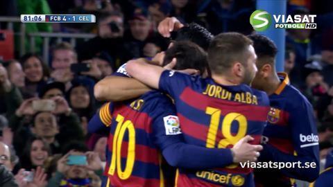 Mål: Barca fortsätter krossen - med kaxig straffvariant (4-1)