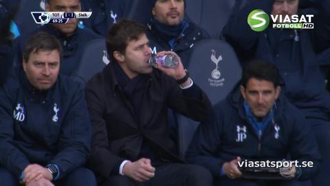 Mål: Chadli placerar in kvitteringen för Spurs (1-1)