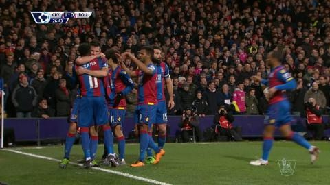 Mål: Dann dundrar in ledningen för Palace (1-0)