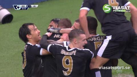 Mål: Drömstart för Leicester - Huth slår till direkt mot City (0-1)