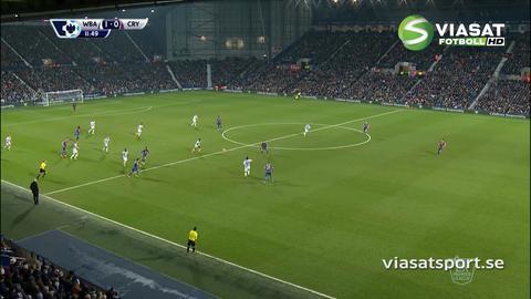 Mål: Gardner öppnar målskyttet mot Palace (1-0)