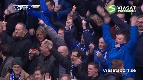 Mål: Huth tvåmålsskytt när Leicesters målfest fortsätter (0-3)