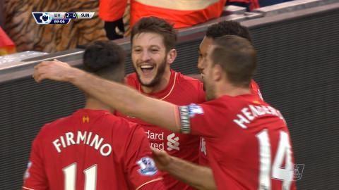 Mål: Liverpool utökar - Lallana nätar (2-0)