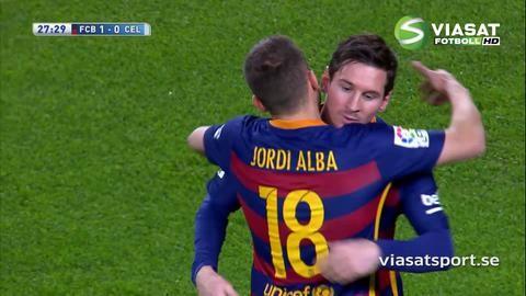 Mål: Messi skruvar läckert in ledningen för Barça (1-0)