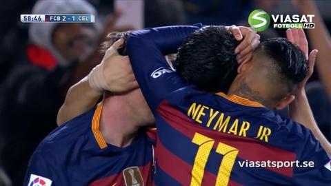 Mål: Messis konststycke bäddar för Suarez (2-1)