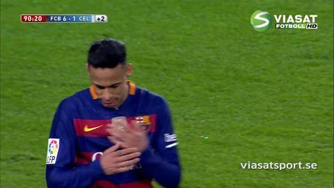 Mål: Neymar avslutar förnedringen på Camp Nou (6-1)