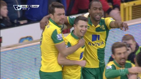 Mål: Norwich utökar - Hoolahan nätar (2-0)